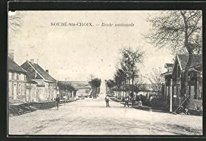 Carte postale Soudé-Ste.Croix, Route nationale