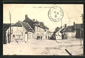 Carte postale Canly, Place de l' Eglise