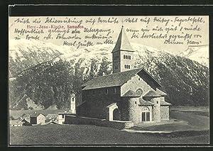 Ansichtskarte Samaden, Blick zur Herz Jesu Kirche