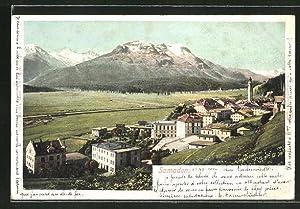 Ansichtskarte Samaden, Panorama der Ortschaft