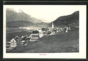 Ansichtskarte Samaden, Blick auf die Ortschaft