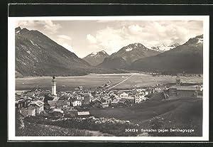 Ansichtskarte Samaden, Blick gegen Berninagruppe
