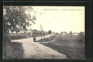 Carte postale Duclair, Route de Caudebec à Duclair
