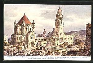 Künstler-Ansichtskarte Friedrich Perlberg: Jerusalem, Marienkirche auf dem