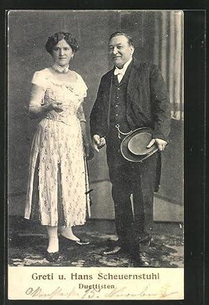 Ansichtskarte Duettisten Greti, Hans Scheuernstuhl