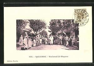 Ansichtskarte Relizane, Boulevard de Mascara