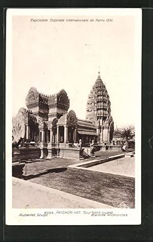 Ansichtskarte Paris, Exposition coloniale internationale 1931, Angkor-Vat, Tour Nord-ouest