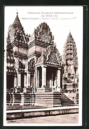 Ansichtskarte Paris, Exposition coloniale internationale 1931, Temple d'Angkor - Auberlet Sculprs...