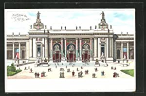 Lithographie Paris, Exposition universelle de 1900, Portique du Grand Palais