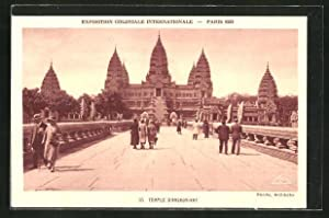 Ansichtskarte Paris, Exposition coloniale internationale 1931, Temple d'Angkor-Vat