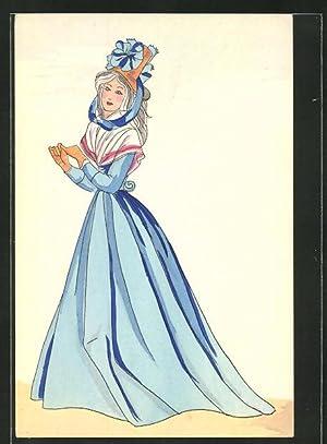 Künstler-Ansichtskarte Histoire du Costume Francais, Revolution 1793,