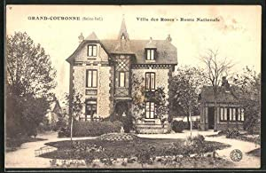 Carte postale Grand-Couronne, Villa des Roses - Route Nationale