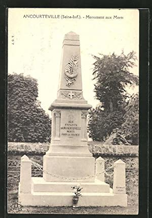 Carte postale Ancourteville, Monument aux Morts