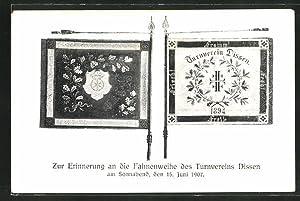 Ansichtskarte Dissen, Zur Erinnerung an die Fahnenweihe