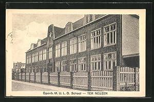 Ansichtskarte Terneuzen, Openb. M.U.L.O. Schhol, Gebäudeansicht