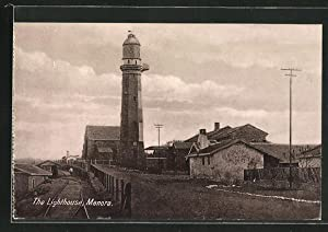 Ansichtskarte Manora, The Lighthouse, Partie mit Leuchtturm