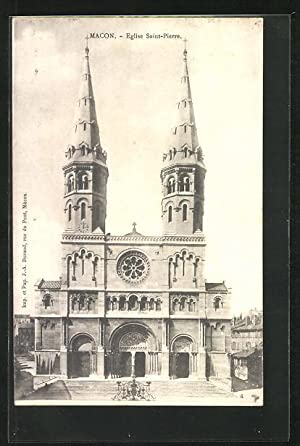 Carte postale Macon, Eglise Saint-Pierre