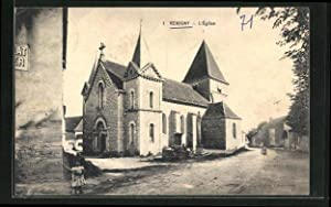 Carte postale Remigny, Eglise