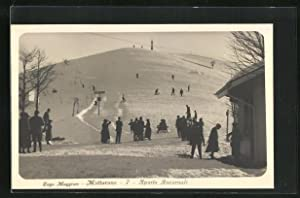 Cartolina Mottarone, Sports Invernali