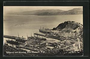 Ansichtskarte Port Chalmers, Wharves and Shipping