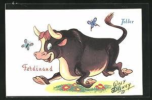 Ansichtskarte Reklame für Tobler, Stier Ferdinand, Comic