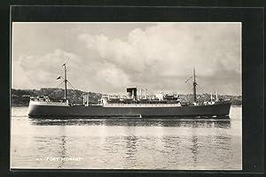 Ansichtskarte Handelsschiff M. V. Port Hobart vor