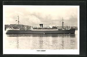 Ansichtskarte Handelsschiff Port Hobart auf See
