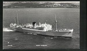 Ansichtskarte Handelsschiff Port Hobart vor der Küste