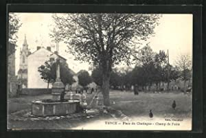 Carte postale Tence, Place du Chataigue, Champ de Foire