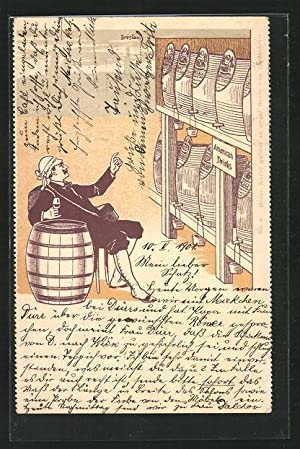 Lithographie The Continental Bodega Company, Breslau - American Drinks, Reklame