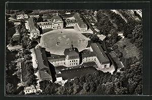Ansichtskarte Wickrath, Schloss Wickrath aus der Vogelschau