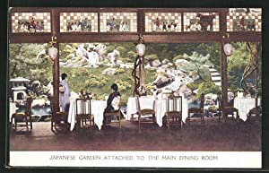 Ansichtskarte Kyoto, Japanese Garden attached to the Main Dining Room