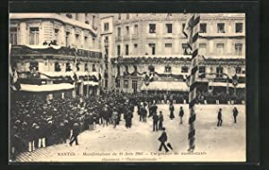 Ansichtskarte Nantes, Manifestation 1903, Un groupe de manifestants chantant l`Internationale
