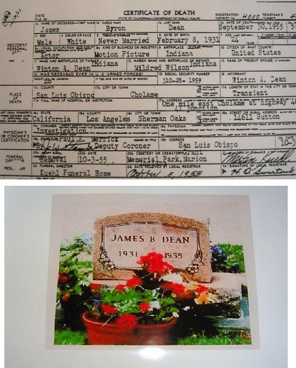 JAMES DEAN AUTOPSY & ACCIDENT Report By James Dean