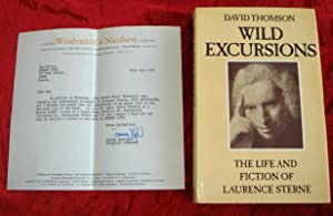 WILD EXCURSIONS - THE LIFE AND FICTION OF LAURENCE STERNE - PROOF COPY