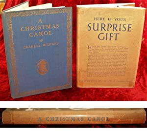 A CHRISTMAS CAROL - HERE IS YOUR SURPRISE GIFT ! with ORIGINAL DUSTJACKET