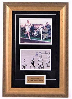Roger Bannister Runs 4 Minute Mile - Hand-Signed Framed & Authenticated