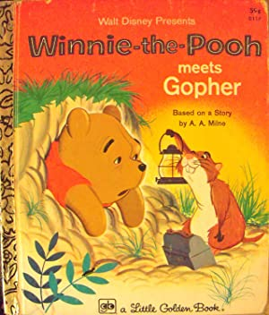 Winnie-the-Pooh Meets Gopher (#D117 Little Golden Book): Milne, A.A.; (Adapted)