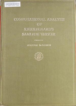 Computational analysis of Kierkegaard's Samlede Værker Volume: McKinnon, Alastair