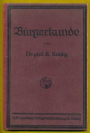 Bürgerkunde. Ausgabe für Baden.: Kräßig, K.: