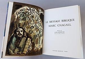 Le message biblique: Chagall Marc -
