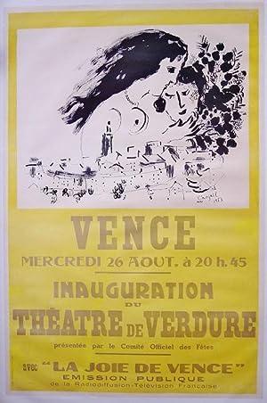 Inauguration du théatre de verdure, Vence: CHAGALL MARC