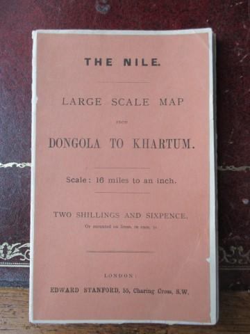 The Nile. Laerge Scale Map from Dongola to Khartum. Scale 16 Miles to an Inch. Softcover