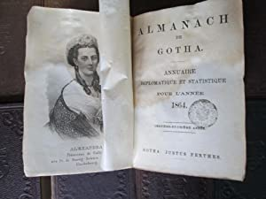 Almanach De Gotha. Annuaire Diplomatique Pour l'Annee 1860. Together with 9 Other Volumes ...