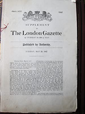 Supplement to the London Gazzette of Tuesday the 25th of May 1847. Number 20737: Statutes of the ...