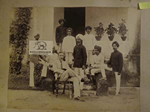 Trimulgherry, Hyderabad. A Vintage Photogrpaph of a European with His Household Staff Outside a ...