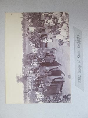Bhopal. Their Excellencies Going Out Shooting. A Vintage Photograph of Lord and Lady Curzon on a ...