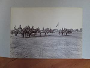 Bhopal. Lord Curzon Mounted and About to Take a Salute at a Parade of Troops During the Viceroy's...