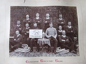 Gordon Highlanders. The Regimental Band of the 1st Battalion. An Original Vintage Photograph Taken ...