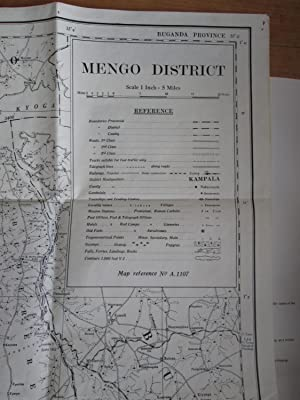 UGANDA PROTECTORATE. Folded Map of Mengo District on a Scale of 1 Inch to 5 Miles.